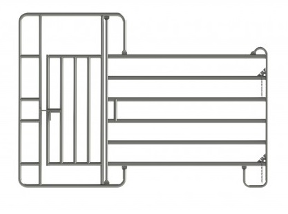 Veterinární ohradní panel s dveřmi 3  m pro skot