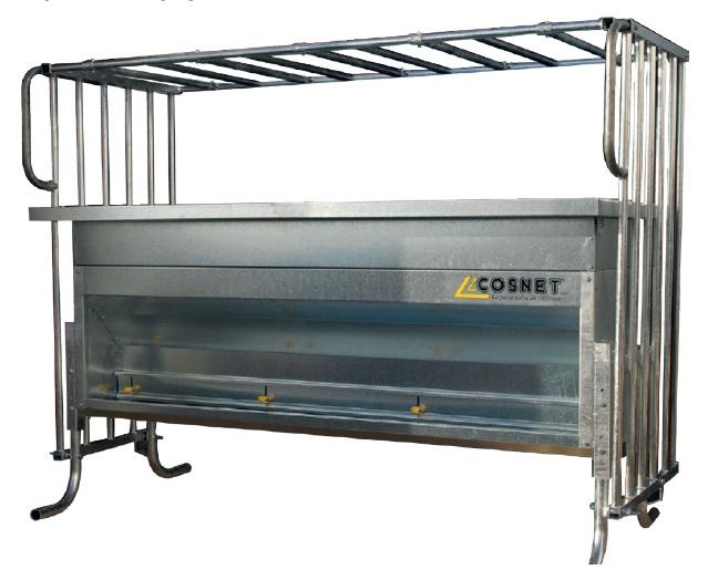 Přídavný zásobník 500 l pro příkrmiště pro telata Cosnet Evolutif 750 l - 2,80 m
