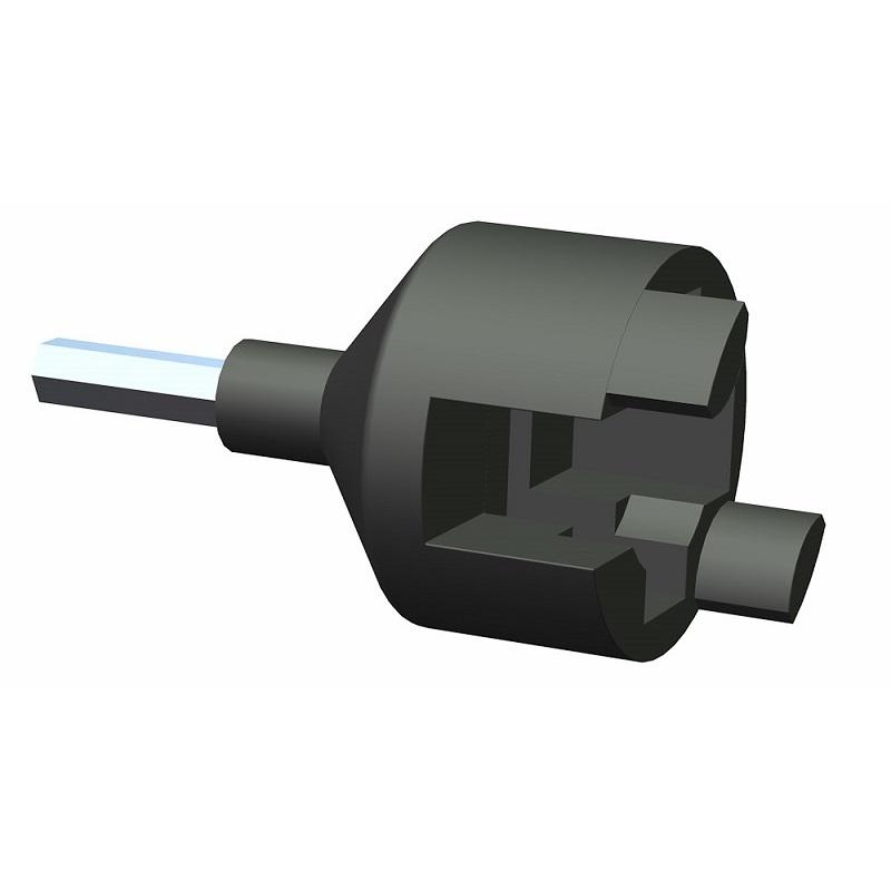 Přípravek, adaptér Speediso pro vrtačku, nástavec na akušroubovák na šroubování izolátorů