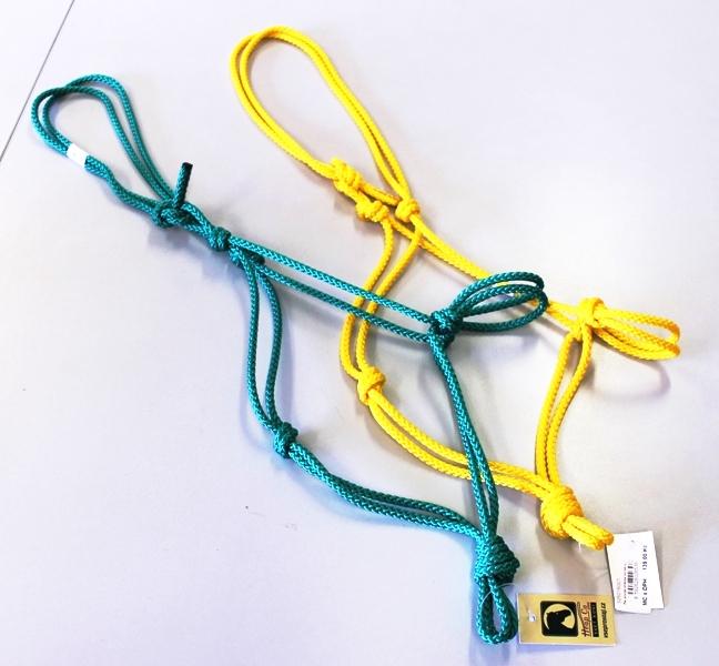 Pareliho provazová ohlávka pro koně v různých barvách
