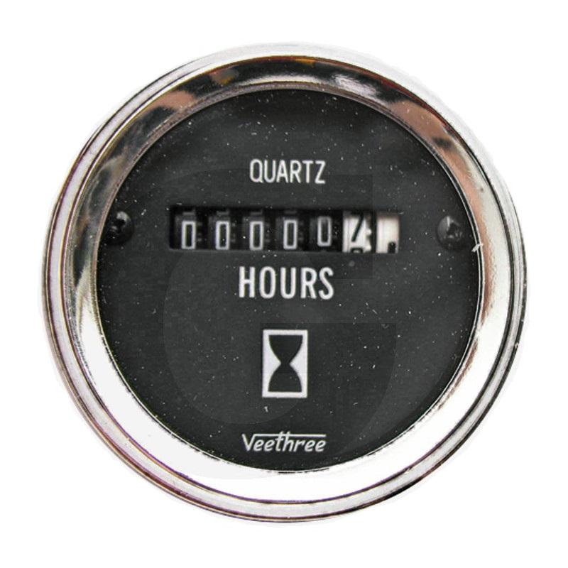 Počítadlo provozních hodin analogové 8 – 28V průměr 52 mm