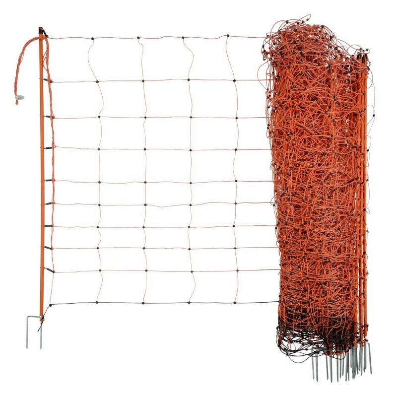 Vodivá síť Ovinet pro ovce a kozy 108 cm/50 m 2 hroty pro elektrický ohradník