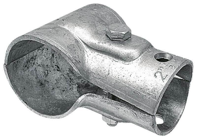 Stájová trubková T spona dvojdílná s 1 šroubem průměr A 34 mm B 21 mm