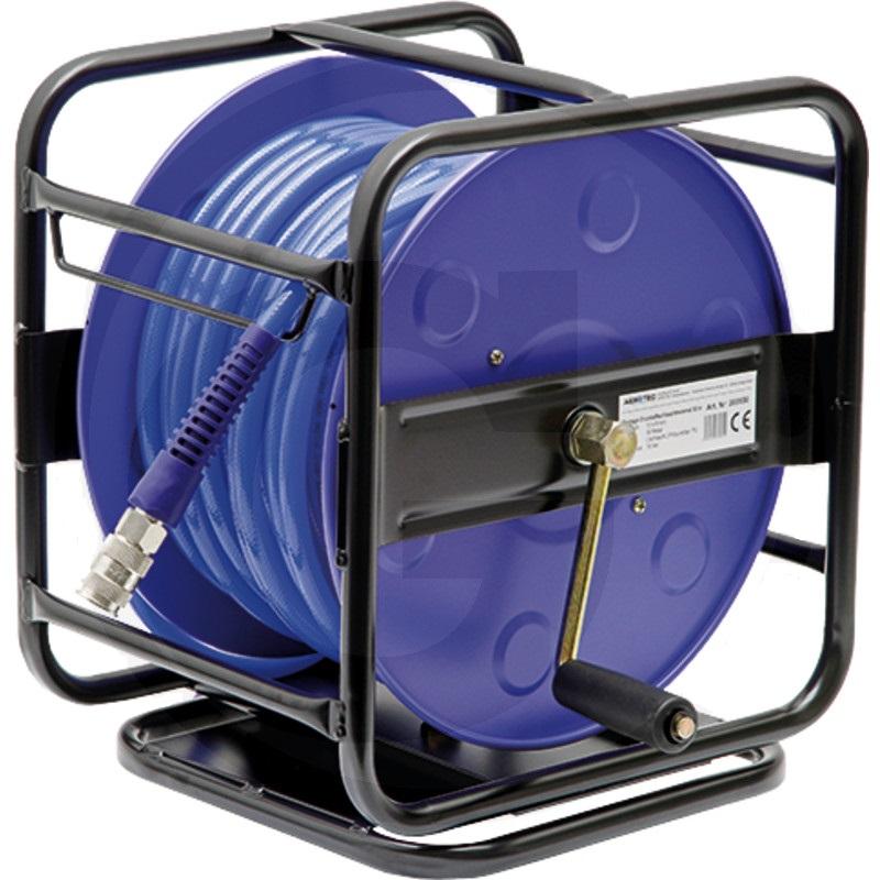 Přenosný hadicový naviják AEROTEC se vzduchovou hadicí vnitřní průměr 8 mm délka 30 m