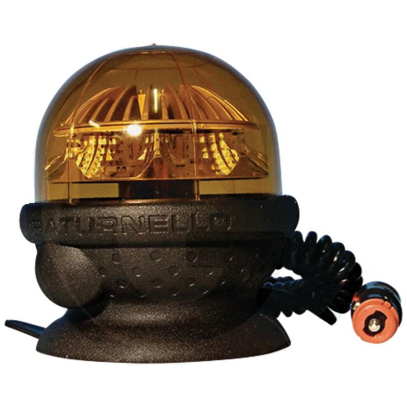 LED maják CEA Saturnello oranžový výstražný 12V/24V 9W s magnetickou patou