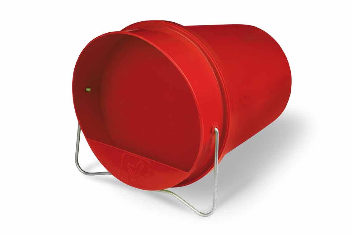 Napájecí kbelík 6 l Gaun pro drůbež plastový červený