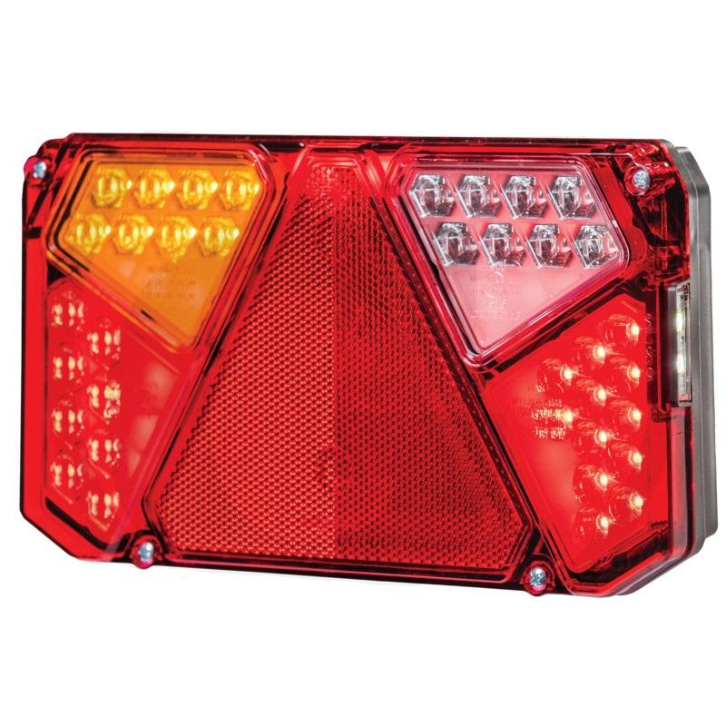LED levé světlo koncové, brzdové, směrové, zpátečkové s bočním osvětlením SPZ, odrazka