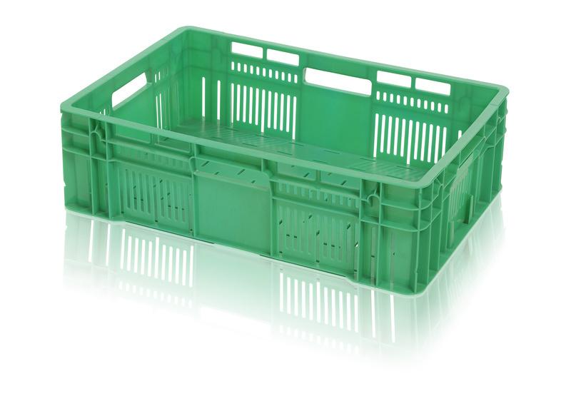 Plastová přepravka na ovoce a zeleninu střední nosnost 15 kg