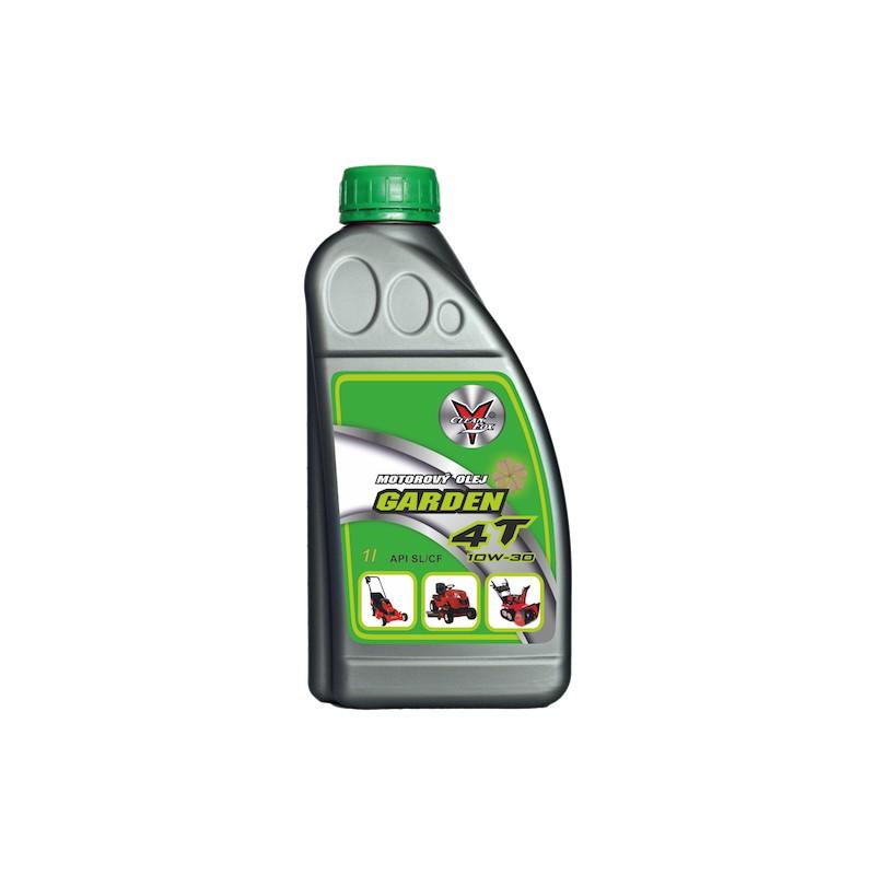 Celoroční motorový olej Garden 4T, 10W/30, 1 l CleanFox pro zahradní sekačky, sněžné frézy
