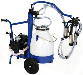 Mobilní konvové dojící zařízení InterPuls pro dojení krav s vozíkem s vývěvou 230 l/min