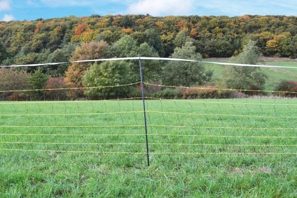 Vodivá síť proti vlkům horinet 90/120cm/50 m s dvojitým hrotem pro elektrický ohradník