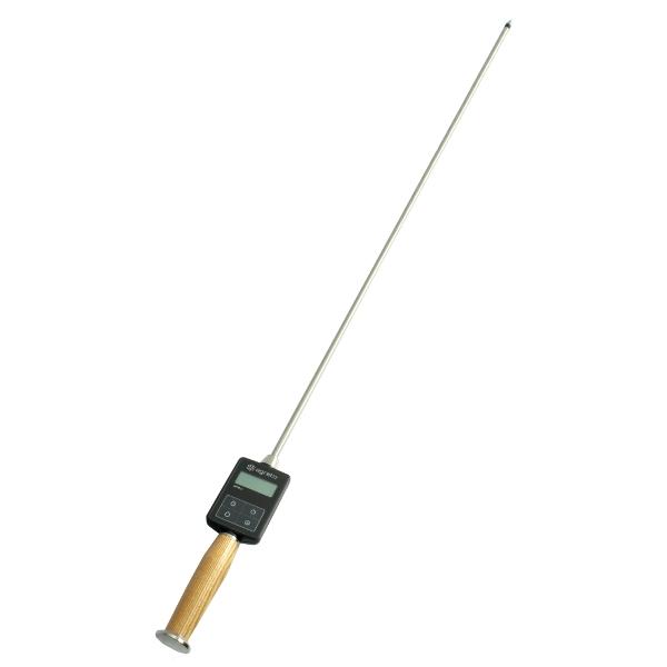 Tyčový vlhkoměr a teploměr na seno, slámu, balíky Agreto HFM II délka sondy 100 cm