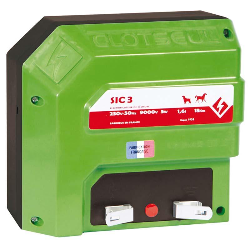 Elektrický ohradník Clotseul SIC 3 síťový zdroj napětí 230V, 1,6 J
