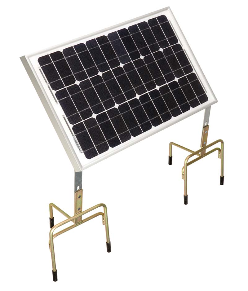CLOTSEUL solární panel 30W pro bateriové zdroje elektrických ohradníků na dvou nožičkách