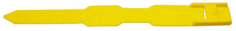 Páska na nohu ze speciálního plastu pro označování zvířat žlutá