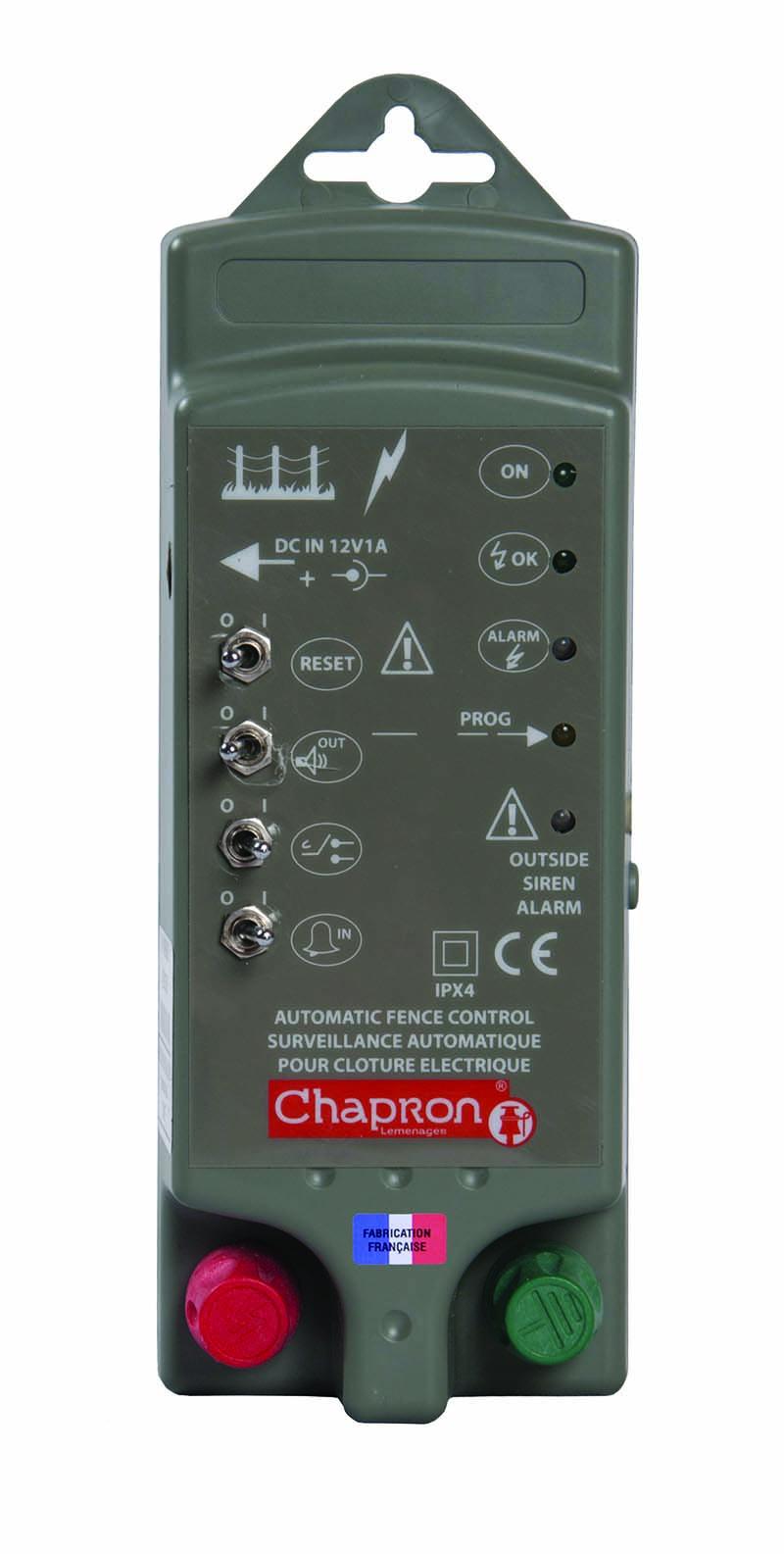 Fotografie Chapron SATURNE alarm pro hlídání napětí a uzemnění elektrického ohradníku