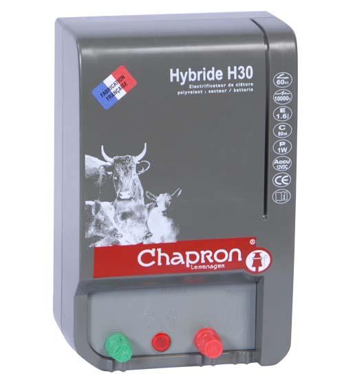 Chapron HYBRIDE H30 kombinovaný 12/230V zdroj napětí pro elektrický ohradník, 2,3J