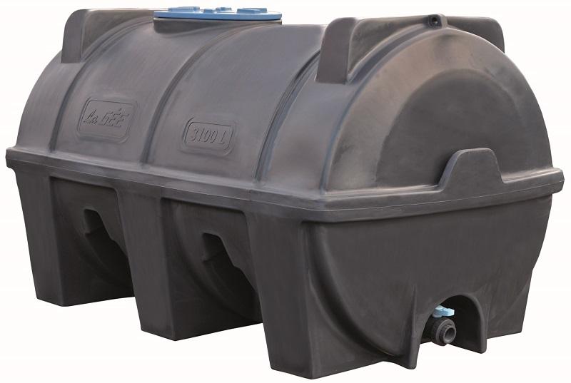Cisterna na vodu plastová stohovatelná La Gée Monobloc 3100 l hustota 1,2 kg/m3