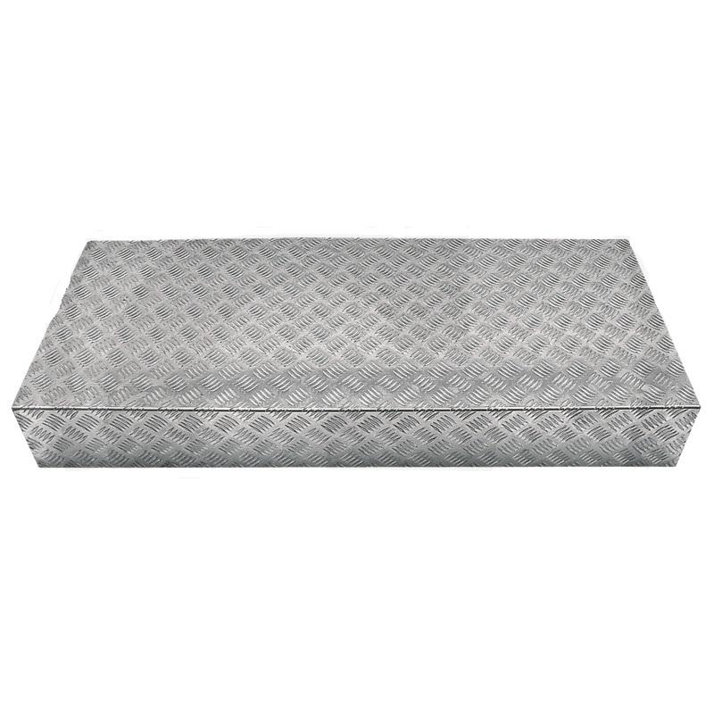 Podesta z rýhovaného plechu pro regály shop systémů 1200 x 500 x 165 mm