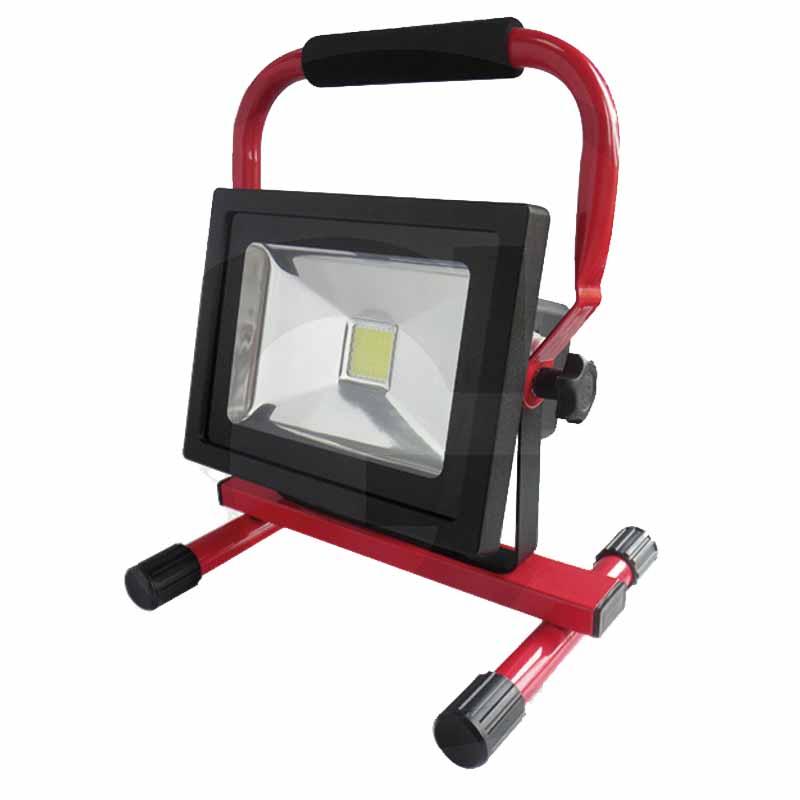 Pracovní Aku LED reflektor 20W 1400 Lumen chip SMD SAMSUNG s bezpečnostním krytem
