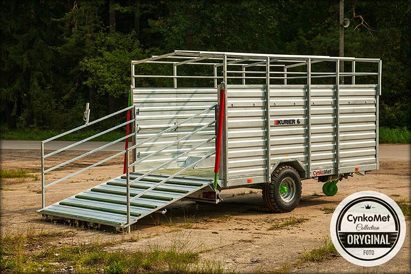 Traktorový přepravník zvířat CYNKOMET KURIER 6
