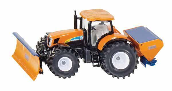 Siku New Holland komunální traktor s radlicí a sypačem soli 1:50