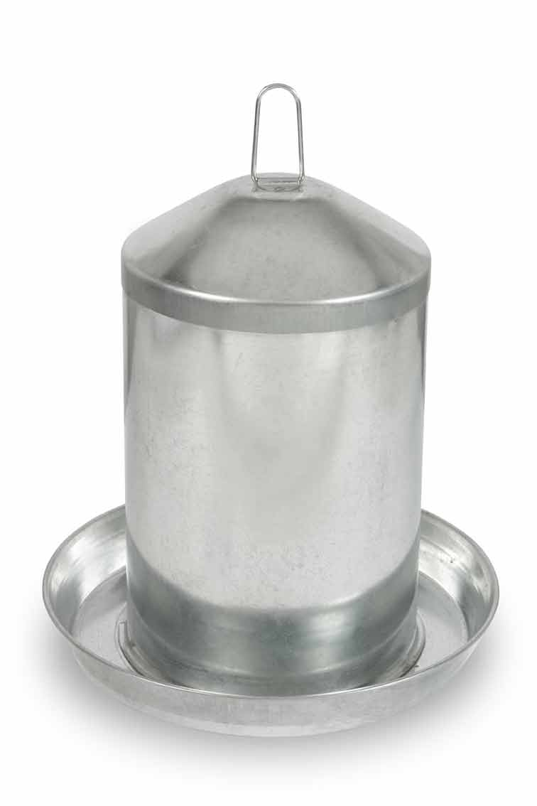 Napáječka kovová Gaun pro drůbež 13 l
