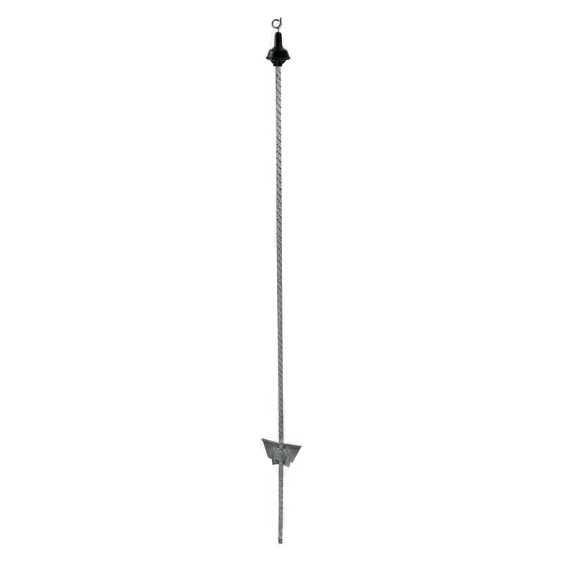 Ocelový sloupek s drátěným očkem 105 cm pro elektrický ohradník prasečí ocásek