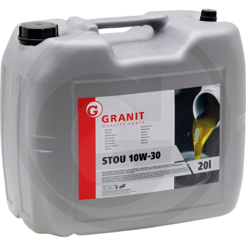 Univerzální traktorový olej Granit STOU SAE 10W-30 pro motor, převodovku, hydrauliku