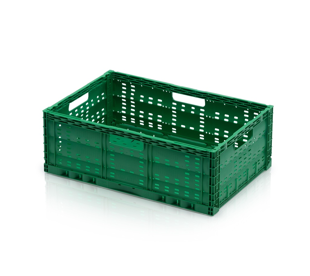 Skládací plastová přepravka na ovoce a zeleninu velká nosnost 20 kg