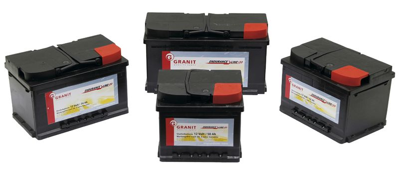 Autobaterie 12V 74Ah Granit bezúdržbová do auta, traktoru startovací proud 650A, 0/1