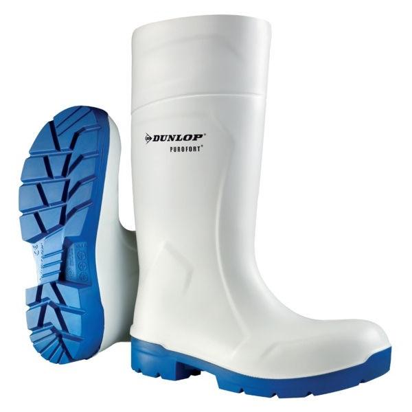 Bílé gumové holínky Dunlop FoodPro S4 pracovní potravinářské velikost 45