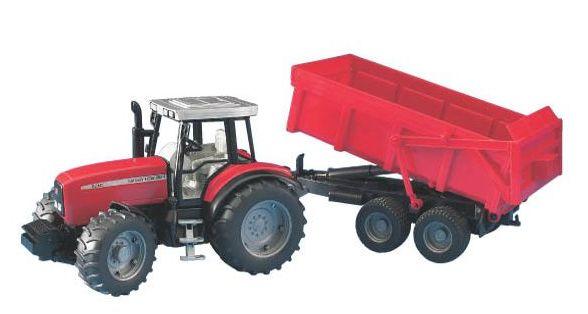 Bruder - traktor - Massey Ferguson 7480 se sklápěcím přívěsem