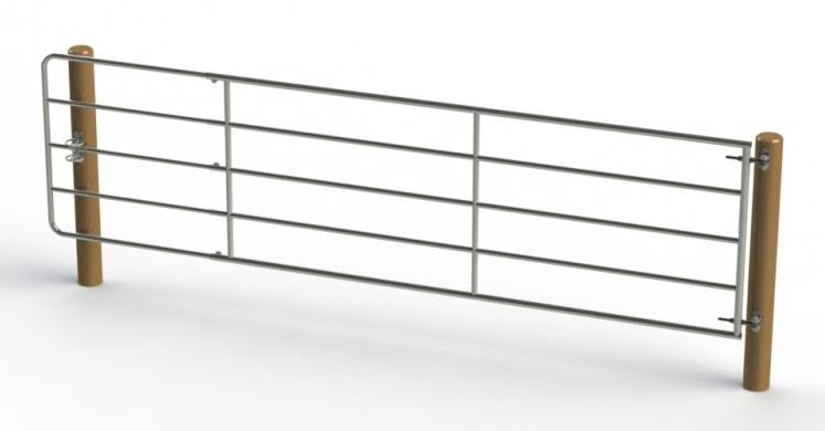 Kovová pastevní brána délkově stavitelná 5 až 6 m