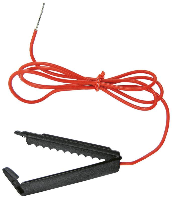 Připojovací kabel k elektrickému ohradníku pro drát, provázek, pásku i síť