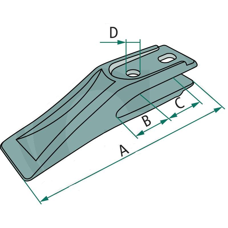 Šroubovací zub pro hluboké lžíce minibagru řady ULTRALEICHT systém Lehnhoff