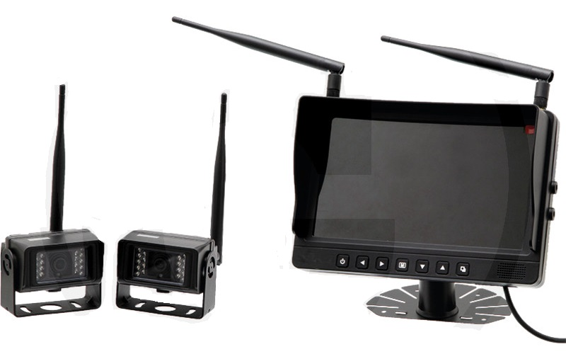 """4 bezdrátové kamery a kamerový systém s barevným LCD monitorem 9"""""""