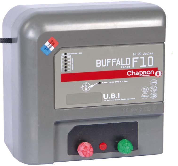 Chapron Buffalo F10 chytrý síťový 230V zdroj napětí pro elektrický ohradník, 10J