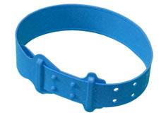 Krční plastová páska pro ovce a kozy modrá