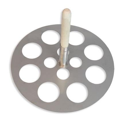 Perforovaný nerezový disk na potápění drůbeže do profi pařících kotlů Spiumatrice