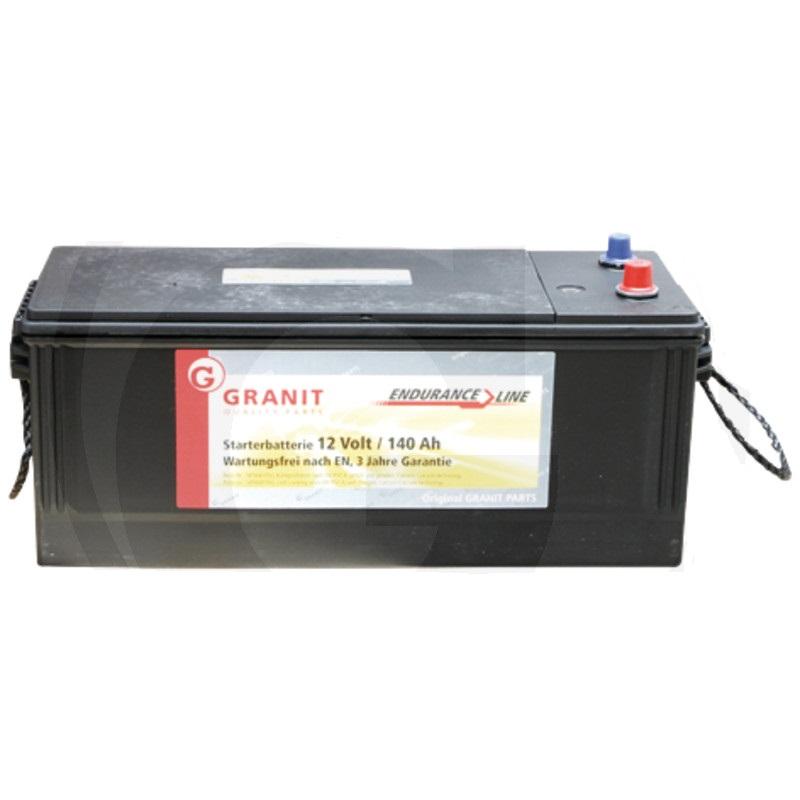 Autobaterie 12V 140Ah Granit bezúdržbová do auta, traktoru startovací proud 950A, 3/1