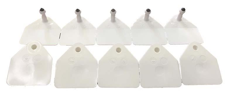 Ušní známky pro prasnice Merko M9 bílé nepopsané