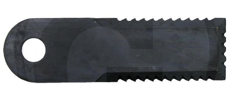Nůž do drtiče slámy Rasspe ozubený 3 strany pro Biso, Case, JD, MF, NH tloušťka 4 mm