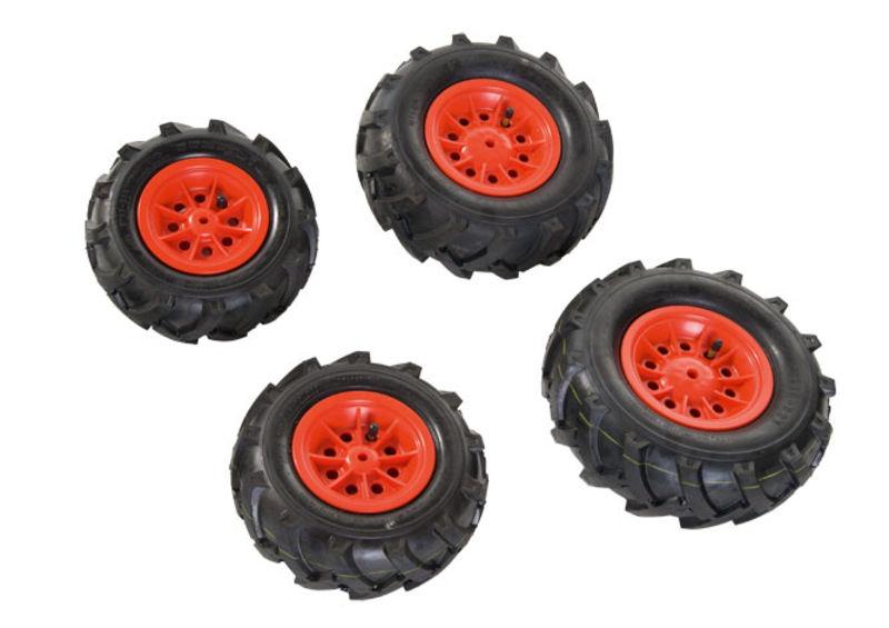 Rolly Toys - pneumatiky plněné vzduchem červené pro rollyFarmtrac