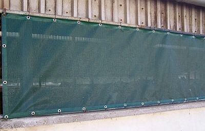 Protiprůvanová síť 4,5 x 3 m rašlový úplet s ocelovými oky 90% stínění