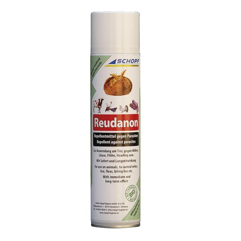 Reudanon BIO repelent proti hmyzu sprej 400 ml na hubení čmelíků, vší, blech, zákožek k aplikaci přímo na slepice a ostatní zvířata