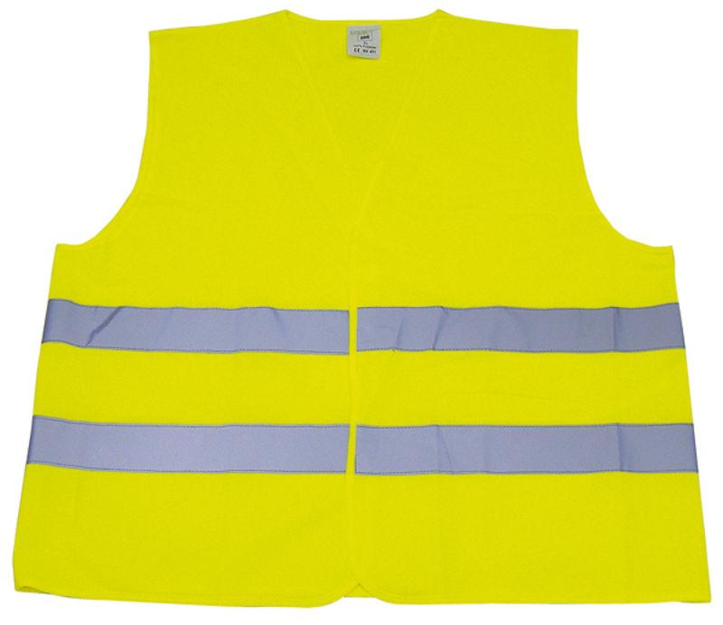Reflexní vesta žlutá do auta i na koně