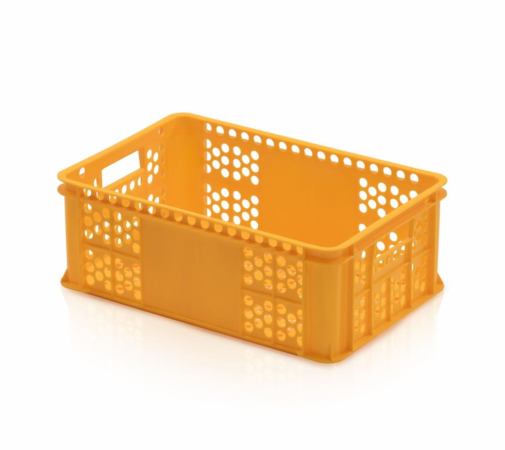 Plastová přepravka na pečivo typ S 22 v, nosnost 15 kg