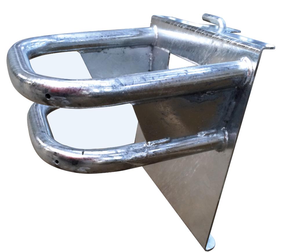Držák lizů FI'XO UNO na lizy 20 kg v kbelíku pro připevnění na hrazení