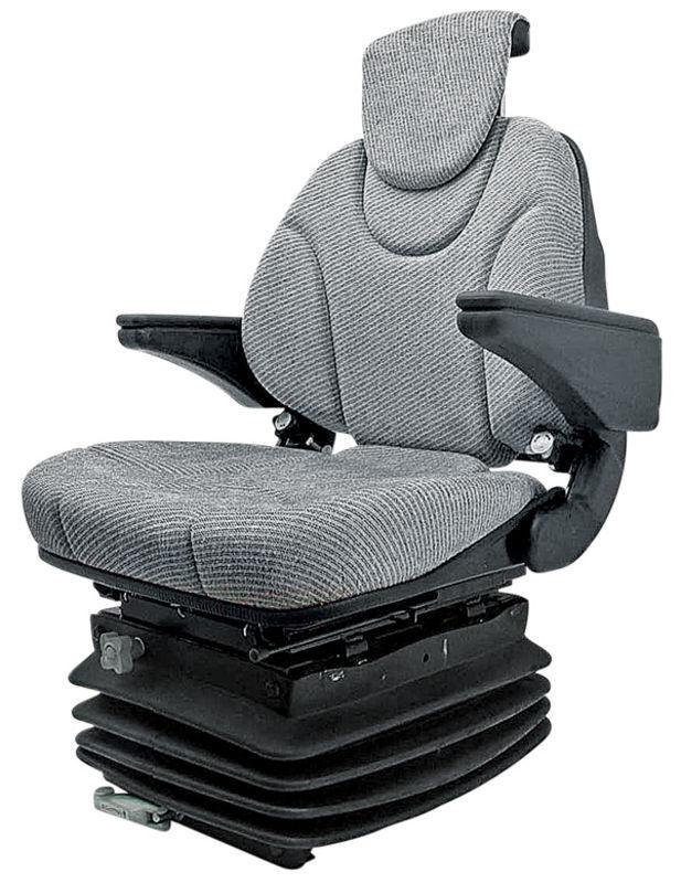 Traktorová sedačka Granit mechanicky odpružená s opěrkou hlavy a loktů